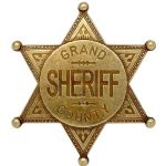Grand County Sheriff Badge Gold Finish